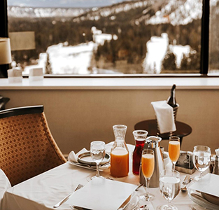 Fairmont Banff Springs, In-Suite Dining Table Set-up