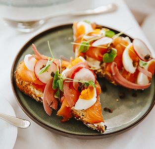 Fairmont Banff Springs, In-Suite Dining Brunch, Smoked Salmon
