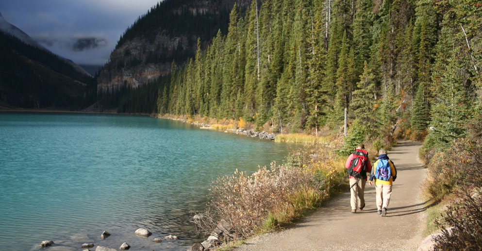 Stroll or Hike lake Louise in Banff National Park